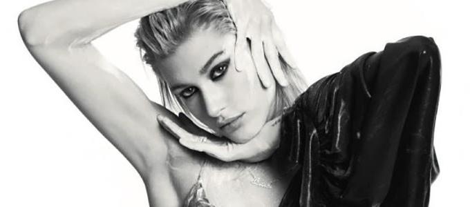 Hailey Baldwin estampa capa da Marie Claire Itália de Fevereiro