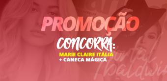 PROMOÇÃO: Concorra a uma Marie Claire Itália + Caneca Mágica de Hailey Baldwin