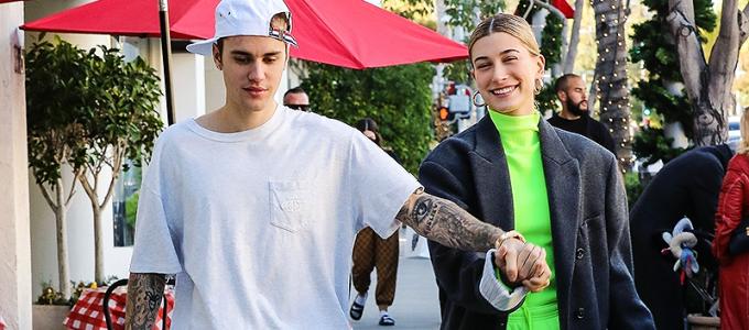 FOTOS E VÍDEOS: Apaixonados, Hailey Baldwin e Justin Bieber se divertem durante passeio