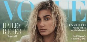 Hailey Bieber é a capa da edição de Outubro da Vogue Austrália